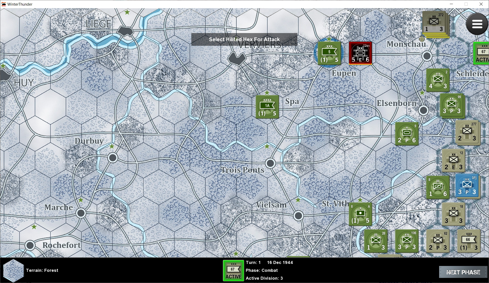 Panzers Exploit to attack Headquarters